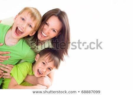 Retrato bom família jogar branco mãe Foto stock © dacasdo