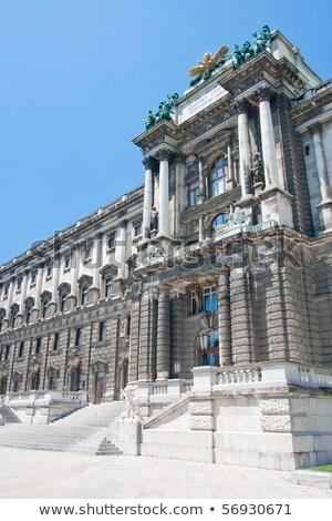 Bécs · bejárat · porta · palota · Ausztria · épület - stock fotó © bertl123