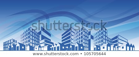 Edifícios azul urbano negócio escritório vidro Foto stock © ArenaCreative