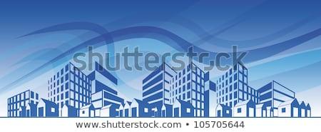 buildings over blue Stock photo © ArenaCreative