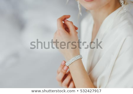 woman wearing bracelet with beads Stock photo © dolgachov