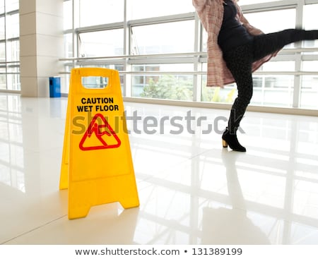 Stok fotoğraf: Woman In Accident At Workplace