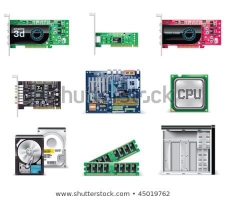 modern · számítógép · alaplap · izolált · fehér · technológia - stock fotó © tarczas