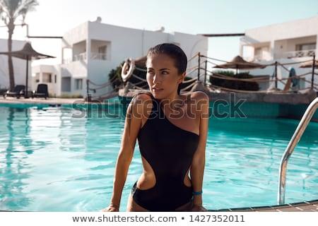 Traje de baño moda mujer bastante modelo belleza Foto stock © keeweeboy