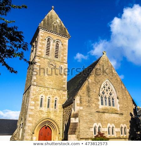 velho · retro · igreja · gótico · estilo · papel - foto stock © claudiodivizia