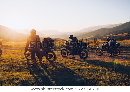 Biker touring Europe Stock photo © Anna_Om