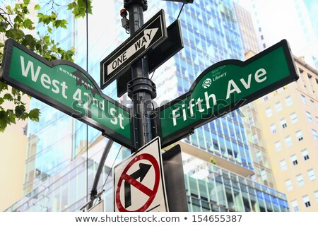 Fifth avenue sign Stock photo © AndreyKr