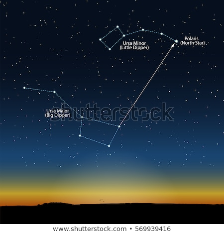Polaris, Ursa Minor and Ursa Major (Big Dipper) Stock photo © tanais