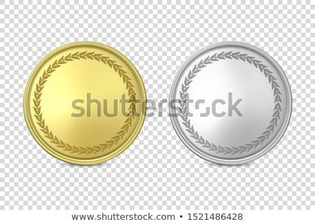 Silber · Dollar · Symbole · blau · Business · Finanzierung - stock foto © eyeidea