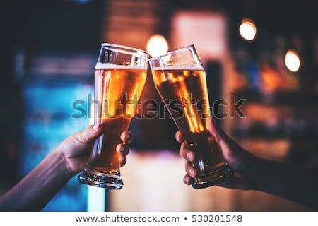 glücklich · trinken · Bier · bar · Veröffentlichung - stock foto © sumners