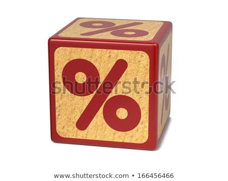 piros · százalék · felirat · fehér · üzlet · 3D - stock fotó © tashatuvango