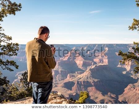 Család dél peremszegély Grand Canyon fotó naplemente Stock fotó © meinzahn