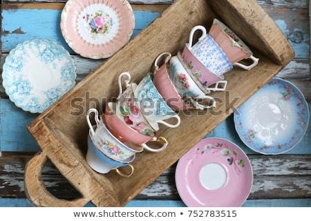 café · dessinés · à · la · main · vivre · grandes · lignes · séparé - photo stock © Concluserat