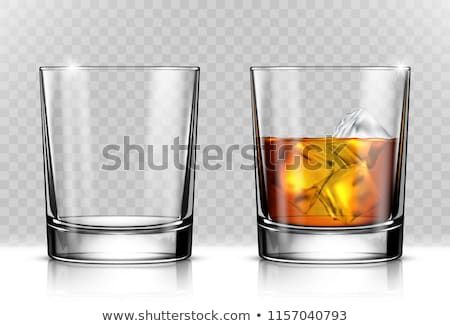 uísque · vidro · charuto · isolado · branco · laranja - foto stock © m-studio
