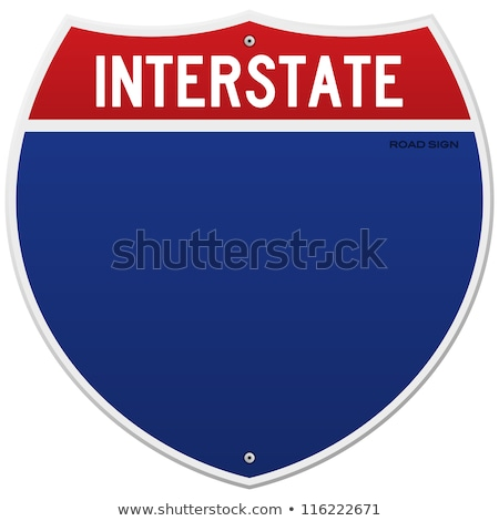 isolado · interestadual · assinar · americano · azul · vermelho - foto stock © nezezon