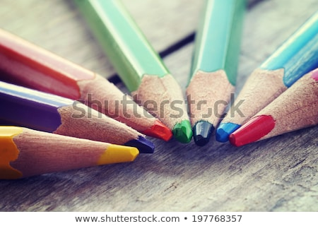 vintage crayons in the red cup stock photo © jarin13