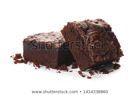 Stockfoto: Cake · ontbijt · moer · geïsoleerd · bruin · snack