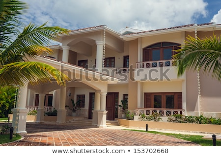 Beautiful spanish houses.  Modern resort  Stock photo © EwaStudio