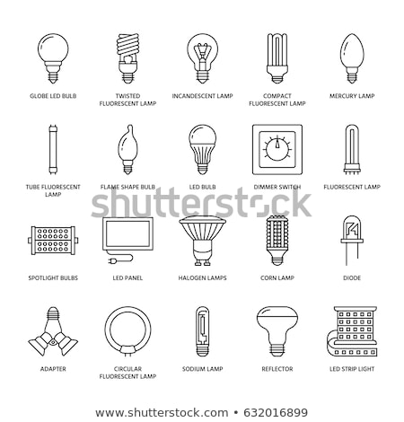 led lamp icons stock photo © yuriy
