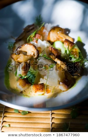 chinese food salad made of pork and eggs stock photo © bbbar