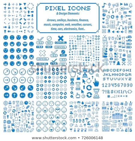 pixel icons vector stock photo © beaubelle