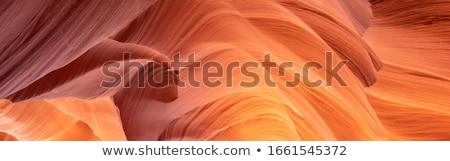 Sleuf canyon pagina Arizona abstract natuur Stockfoto © meinzahn