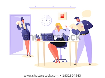 woman approval by her boss Stock photo © Giulio_Fornasar