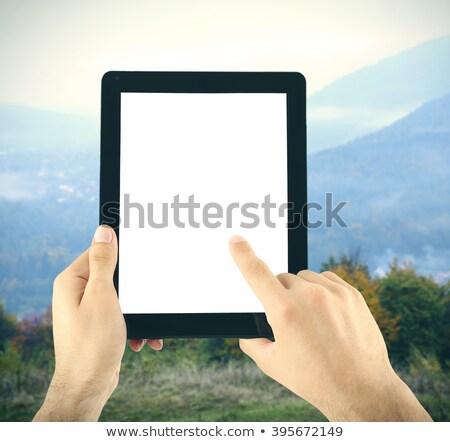 mulher · mãos · gradiente · corpo · pintar · saúde - foto stock © cherezoff
