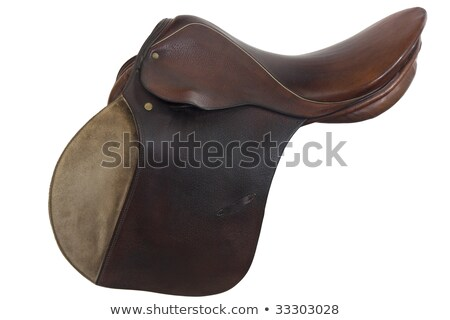 used horse saddle, English style Stock photo © PixelsAway