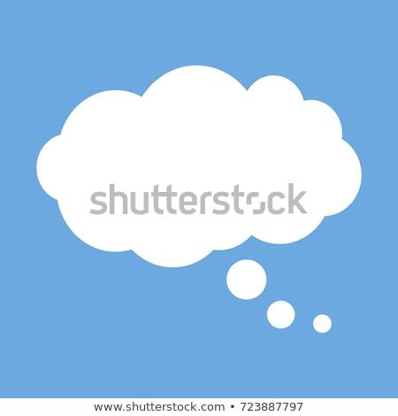 Pęcherzyki Chmura wody wiadomość eps10 niebieski Zdjęcia stock © LoopAll
