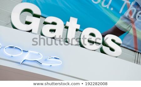 Low angle view of a signboard at an airport, Alberta, Canada Stock photo © bmonteny