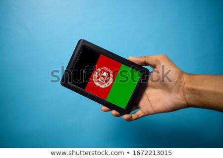 смартфон флаг Афганистан телефон телефон знак Сток-фото © vepar5