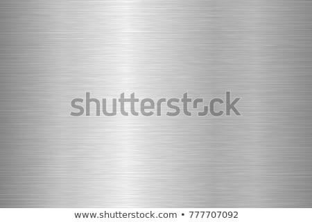 brushed silver metallic background  Stock photo © FrameAngel