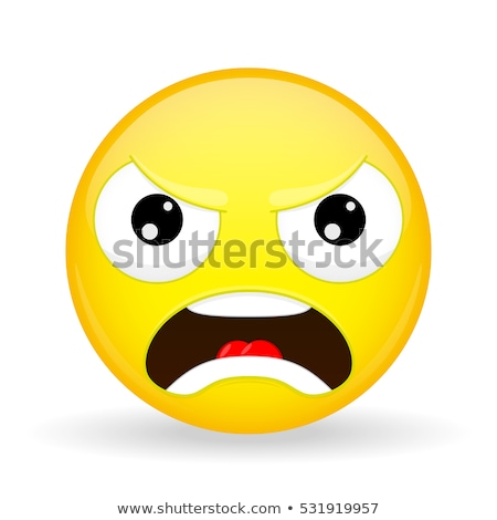 emoticon in fury Stock photo © mariephoto