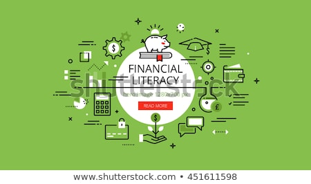 financial literacy on green arrow stock photo © tashatuvango