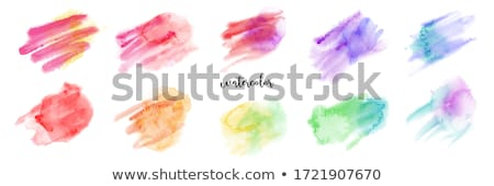 rainbow watercolor stains set stock photo © gladiolus