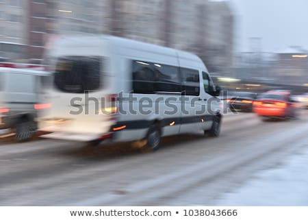 Fast van and traffic jam, panning and blur stock photo © kaczor58