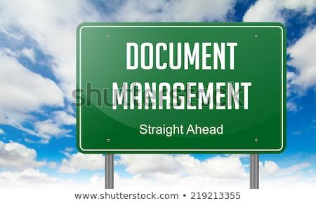 Data Management on Green Highway Signpost. Stock photo © tashatuvango