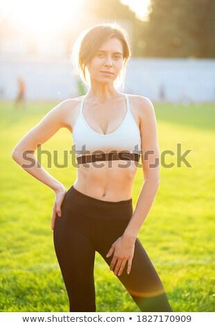 заманчивый брюнетка Lady женщину лице Сток-фото © majdansky