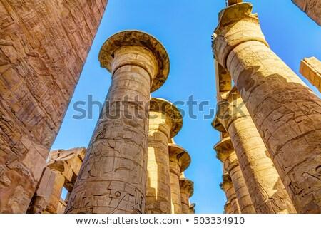Sütunlar tapınak hdr görüntü eski Mısır Stok fotoğraf © Mikko