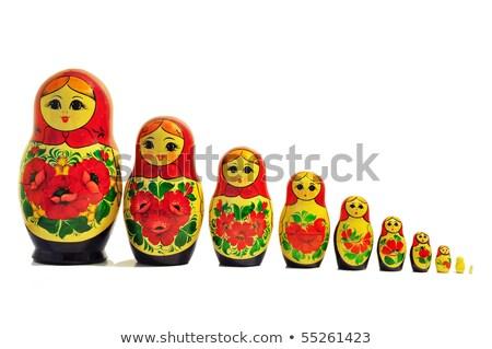 russisch · pop · familie · illustratie · stijl - stockfoto © lucielang