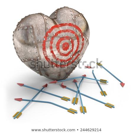 Fracassado coração protegido aço alvo Foto stock © idesign