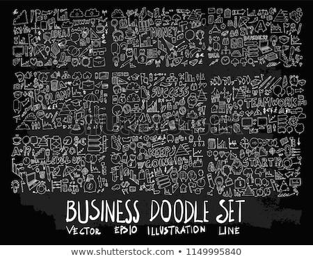 grijs · psychedelic · patroon · vector · zwarte - stockfoto © oliopi
