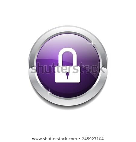 Unlock Circular Purple Vector Web Button Icon Stock photo © rizwanali3d