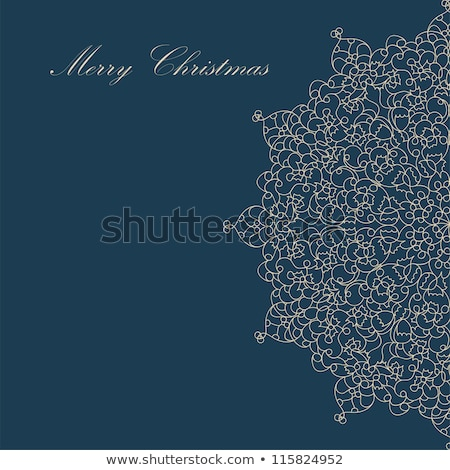 Christmas card with christmas snowflake. EPS 8 Stock photo © beholdereye