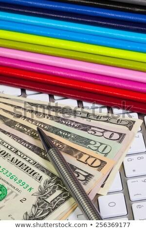 üzlet asztal tizenkettő számítógép papír billentyűzet Stock fotó © CaptureLight