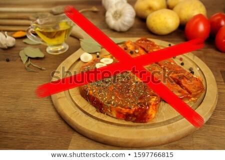 marhahús · pázsit · piros · főtt · bors · fehér - stock fotó © oleksandro