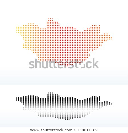 Map of Mongolia with Dot Pattern Stock photo © Istanbul2009