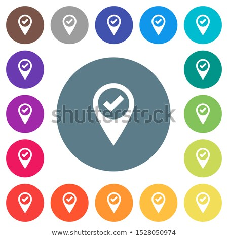 Accept map pin icon on white background. Stock photo © tkacchuk