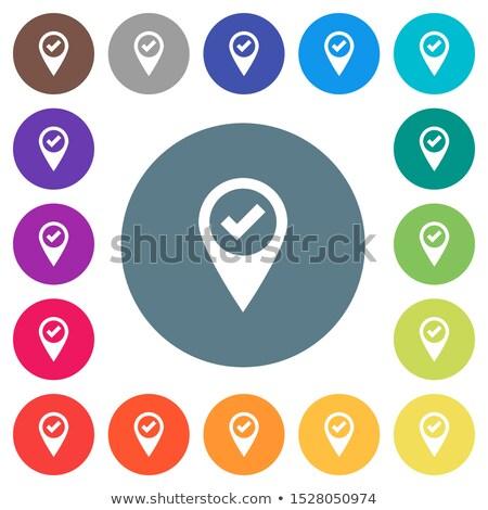 地図 · ピン · アイコン · アイコン · ドロップ · 影 - ストックフォト © tkacchuk